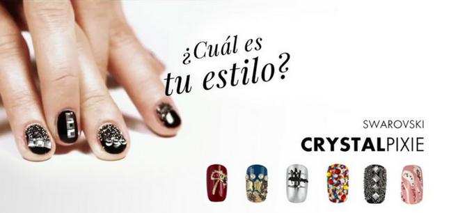 U as decoradas con cristales swarovski katyushka nails for Estilo arquitectonico que usa adornos con plantas y animales